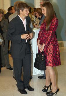 Андрей с женой Юлей на одном из светских мероприятий