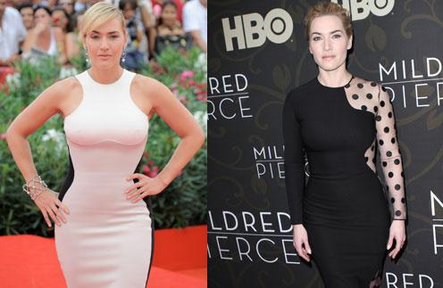 """В последнее время Кейт Уинслет (Kate Winslet) предпочитает платья Stella McCartney, придающие фигуре силуэт """"песочные часы"""""""