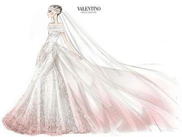 Валентино Гаравани сам разработал дизайн свадебного платья Энн Хэтэуэй (Anne Hathaway)