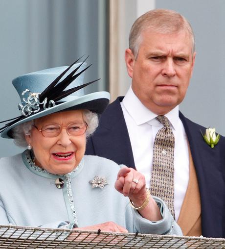 Елизавета II и принц Эндрю