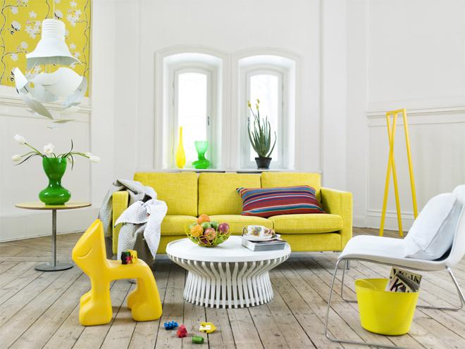 Желтые и оранжевые оттенки в интерьере