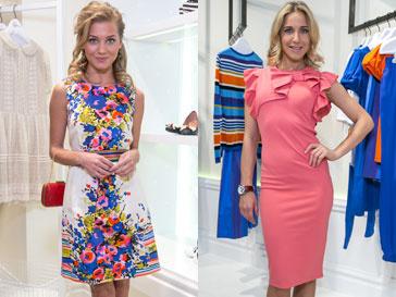 Кристина Асмус и Юлия Ковальчук на открытии бутика Red Valentino в ГУМе