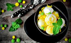 Мороженое с заварным лимонным кремом