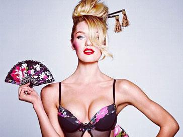 Кэндис Свейнпол (Candice Swanepoel) в откровенном образе гейши от Victoria's Secret