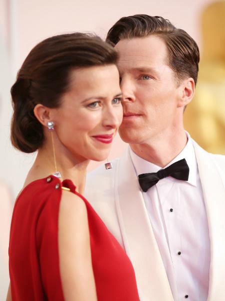 Бенедикт Камбербэтч с женой на Оскар 2015