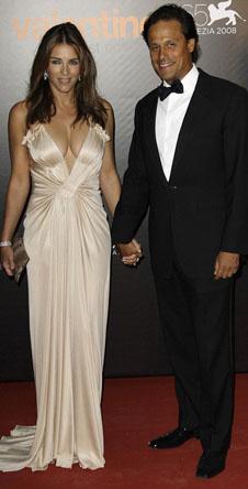 Лиз Херли и ее муж, индийский бизнесмен, Арун Найар