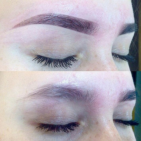 Оформление бровей нитью в Zara brows, фото
