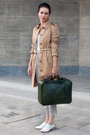 Винтажный чемодан – экстравагантная деталь осени-2010.