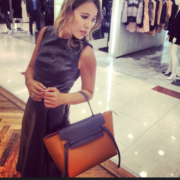 Ксения Собчак с новой сумкой Celine