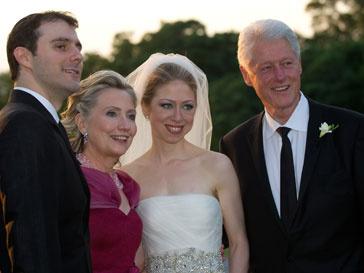 Билл Клинтон на сваьбе дочери
