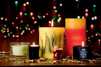 свечи с ароматом вербены от L'Occitane, нотами ванили от L'Artisan Parfumeur, нотами чая улун от Acqua di Parma, нотами классического аромата Missoni и черной туберозы от Sisley.