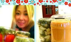 Анита Цой сделала домашние заготовки на зиму