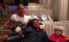 Волочкова провела день с Бахтияром и дочерью