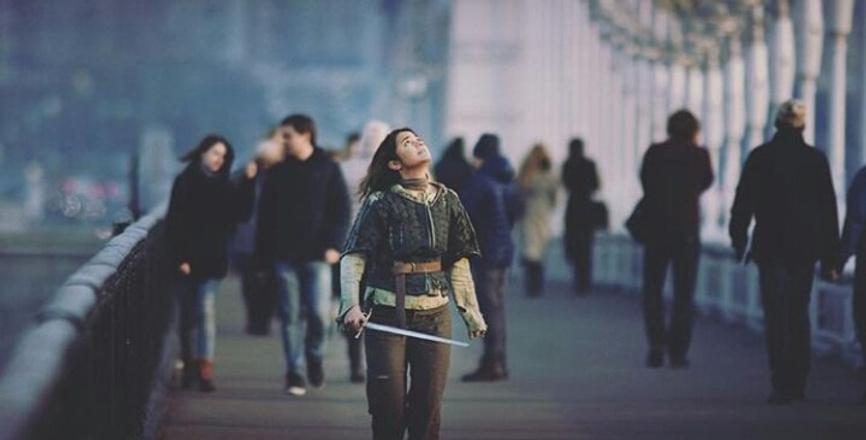 Мария Мартынова в образе Арьи Старк