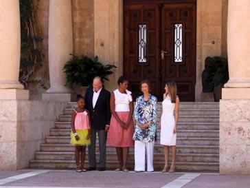 Мишель Обама и испанские монархи