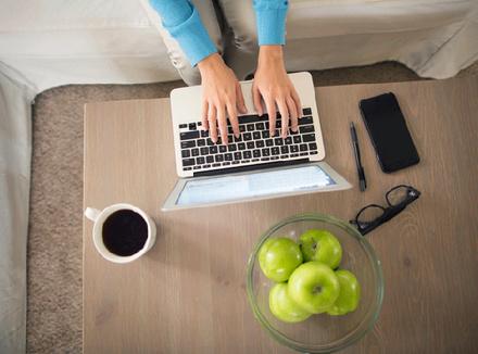 Рабочий стол: вид сверху
