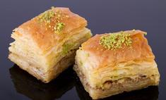 Восточная сладость - медовая пахлава из слоеного теста