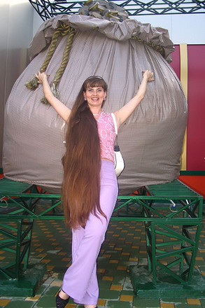 У Краснодарки коса почти два метра