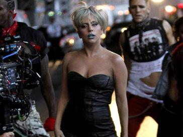 Леди ГаГа (Lady GaGa) на съемках клипа