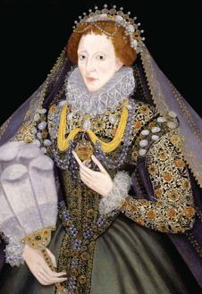Портрет Елизаветы I с веером, 1585-1590 гг. Неизвестный художник.
