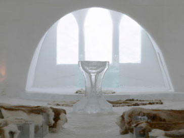 Ледяной отель в Швеции - крупнейший в мире