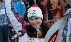 Заворотнюк пробежала с олимпийским огнем в Астрахани