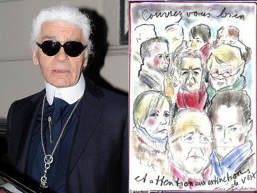 Карл Лагерфельд (Karl Lagerfeld) использует свой артистический талант в политических целях