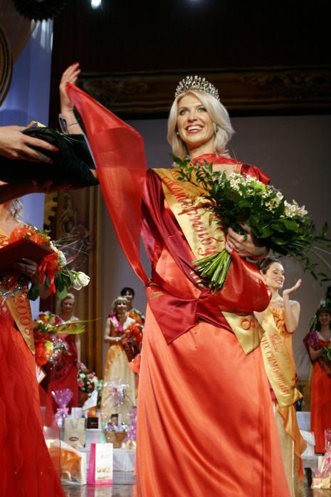 Юлия Зубрилкина на конкурсе «Миссис Екатеринбург - 2008», фото