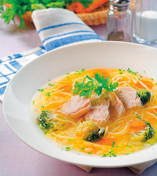 Куриный суп-лапша с овощами