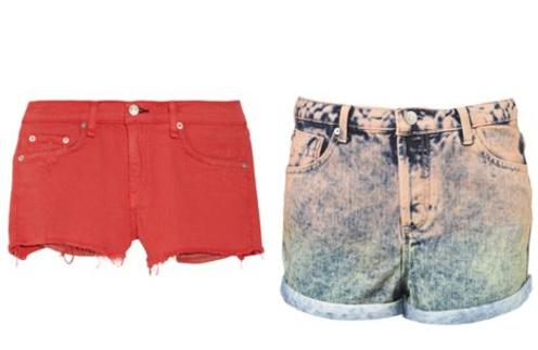 Джинсовые шорты rag & bone, джинсовые шорты Topshop