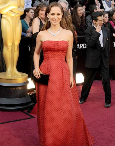 """Натали Портман (Natalie Portman) на """"Оскаре-2012"""""""