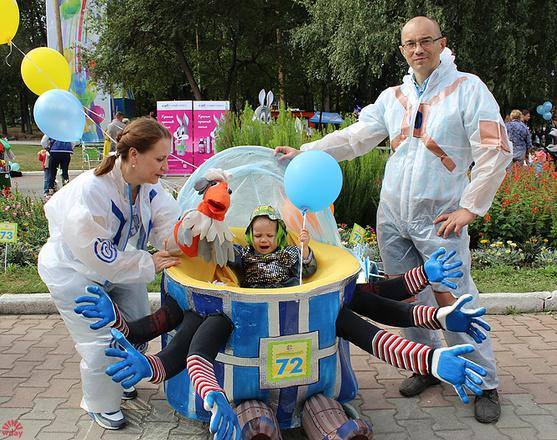 Надежда и Василий Дедюхины, Парад колясок в Екатеринбурге 2016, фото