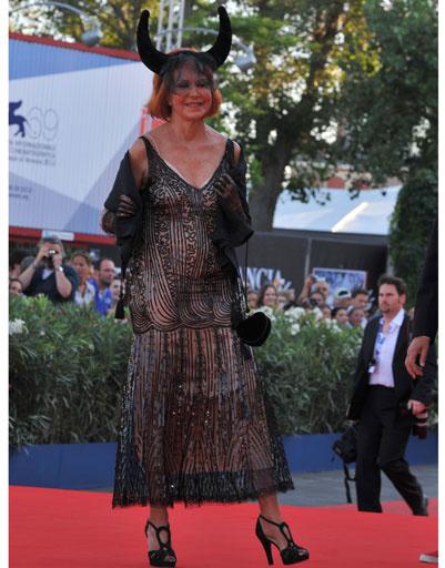 Марина Рипа ди Меана (Marina Ripa di Meana) на 69-ом Венецианском кинофестивале
