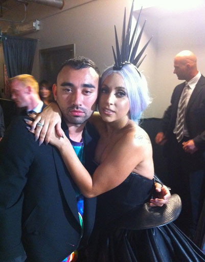Никола Формичетти (Nicola Formichetti) и Леди ГаГа (Lady GaGa)