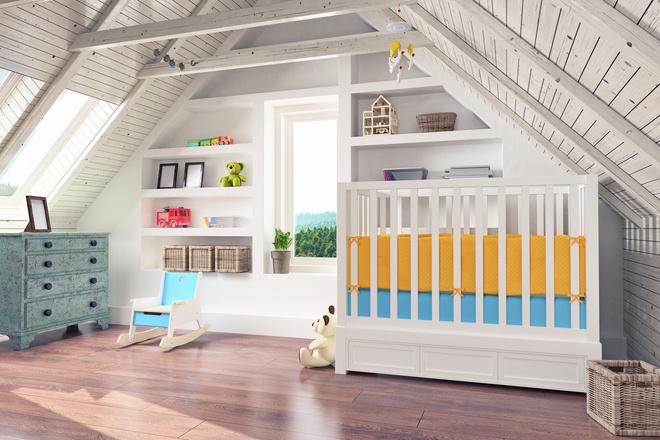 как совместить спальню с детской