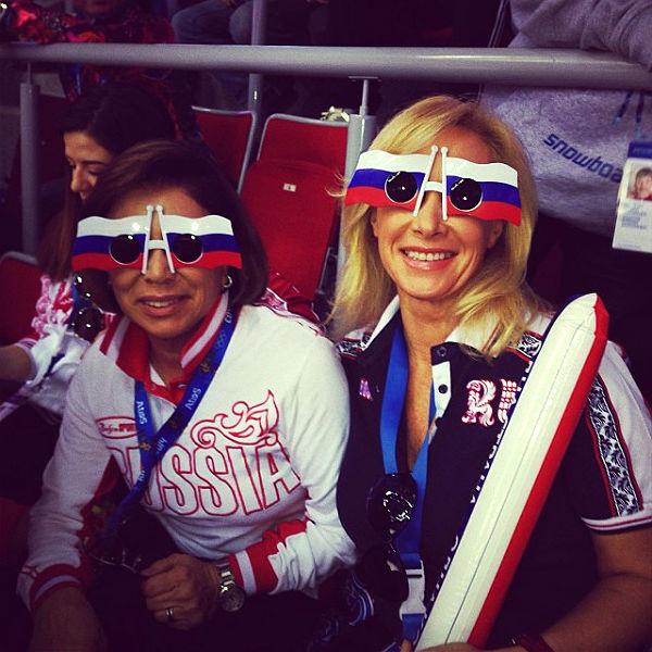 Ирина Роднина и Оксана Пушкина