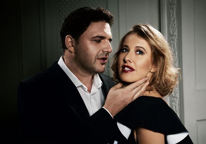 Ксения Собчак и Максим Виторган в романтичной фэшн-съемке