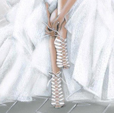 Casadei создал модель свадебных босоножек