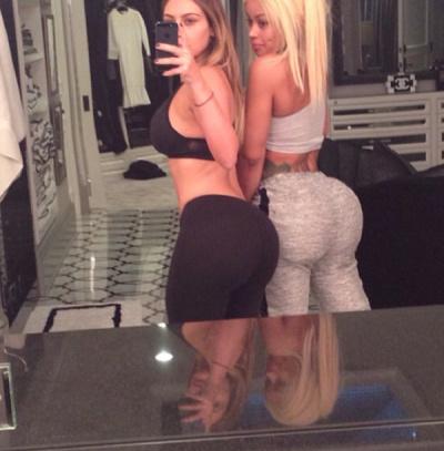 Ким и ее подруга