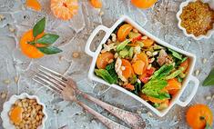 Мандариновый салат с сельдереем и курочкой