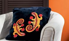 Огненная саламандра: роспись по ткани