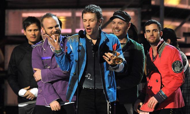 Группа «Coldplay» получает награду