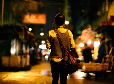 Женщина на улице