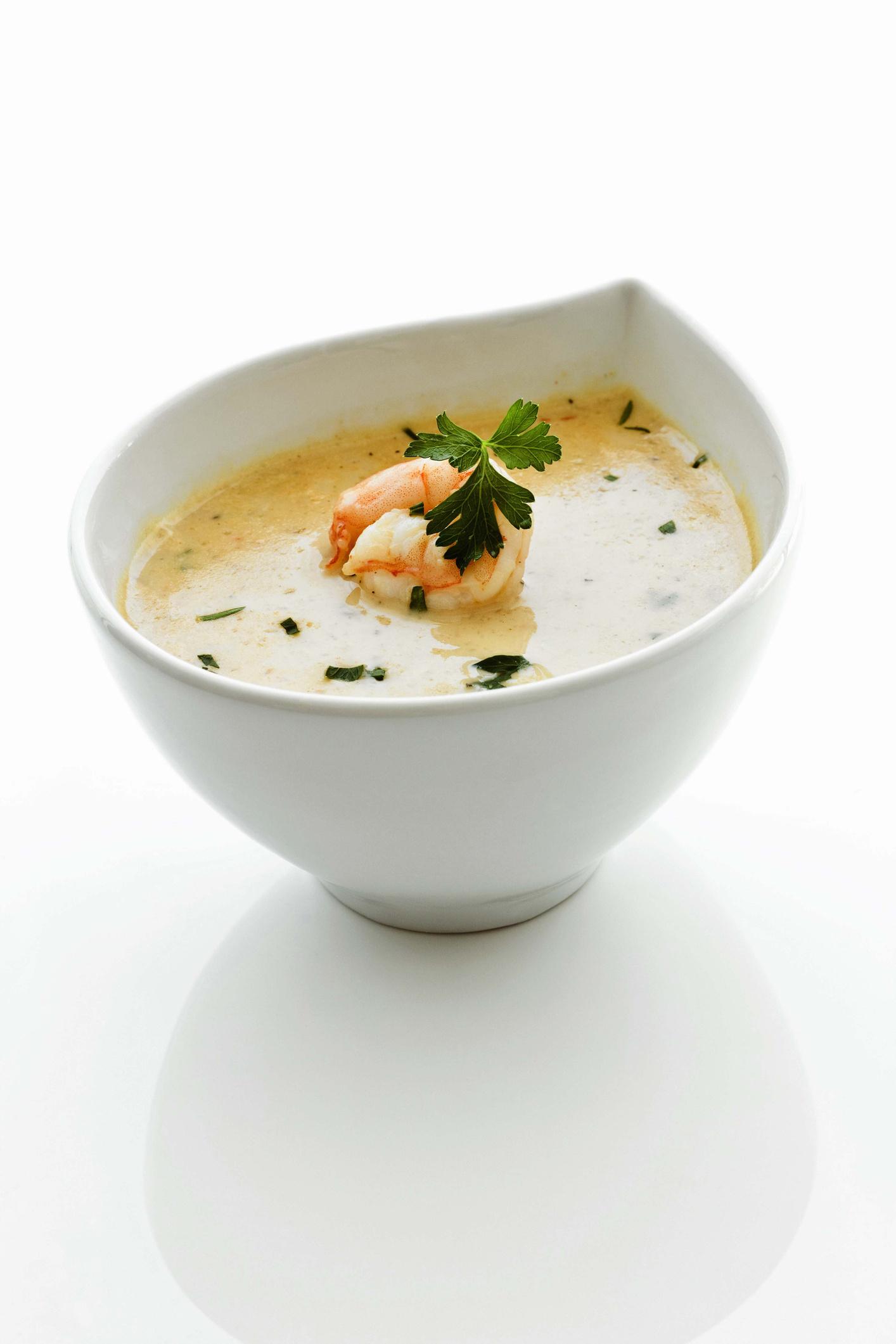 Крем суп с креветками и сливками рецепт пошагово