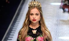 В показе Dolce & Gabbana приняли участие настоящие принцессы