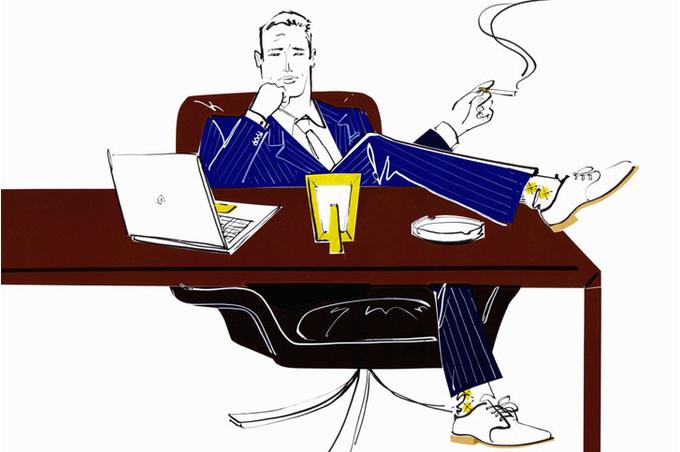 Мужчина за столом
