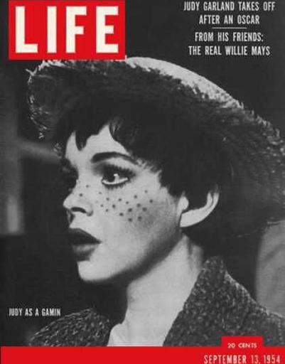 Актриса Джуди Гарленд на обложке LIFE 1954 года