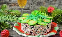 Итальянский салат с рисом Venere и салями