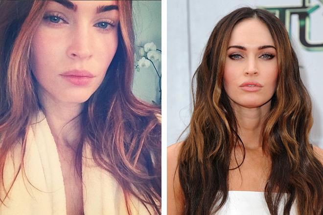 Меган Фокс без макияжа