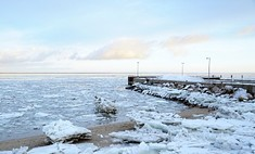 Подо льдом Азовского моря найдены три малыша
